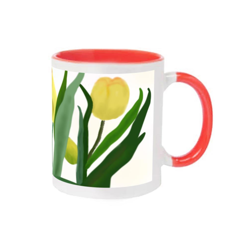チューリップのマグ 2トーンマグカップ