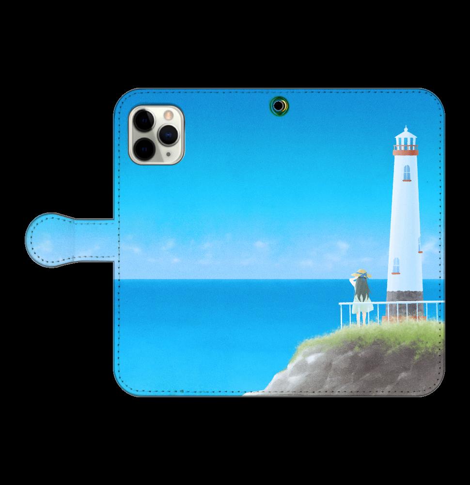 海の向こう側 iPhone11 Pro 手帳型スマホケース