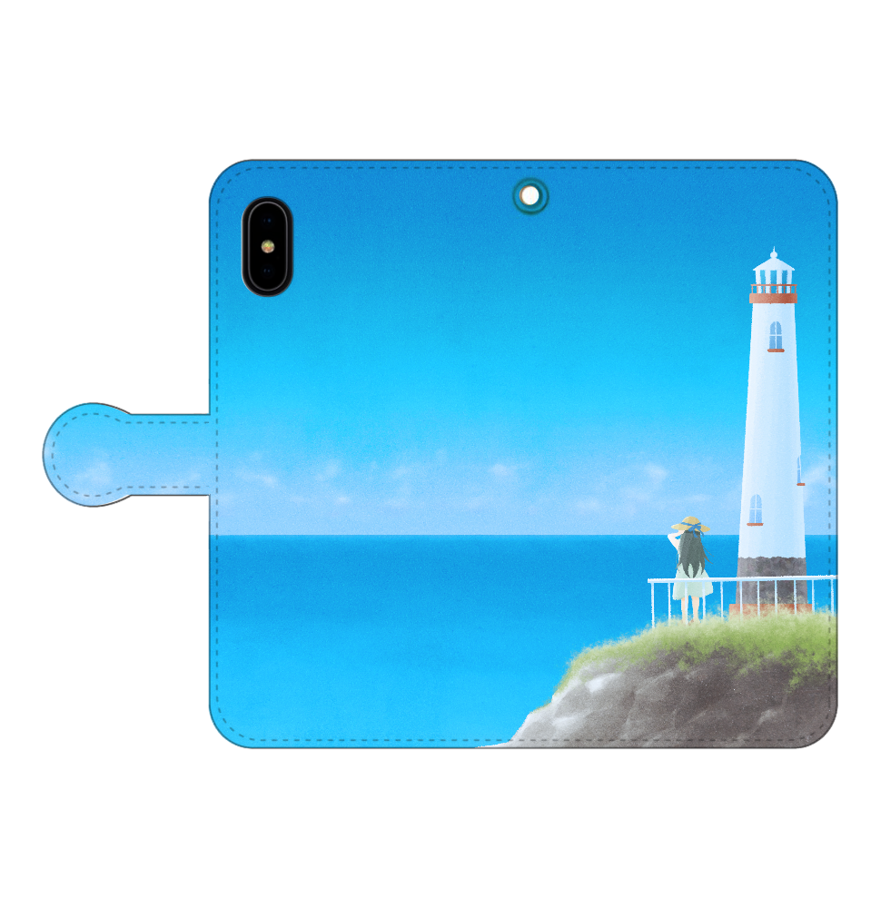 海の向こう側 iPhoneX/Xs 手帳型スマホケース