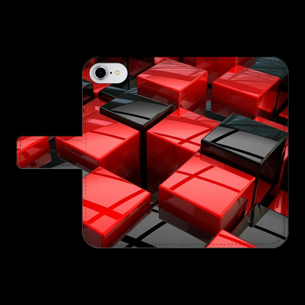 NO.68 iPhone6/6s 手帳型スマホケース ベルトあり3ポケット