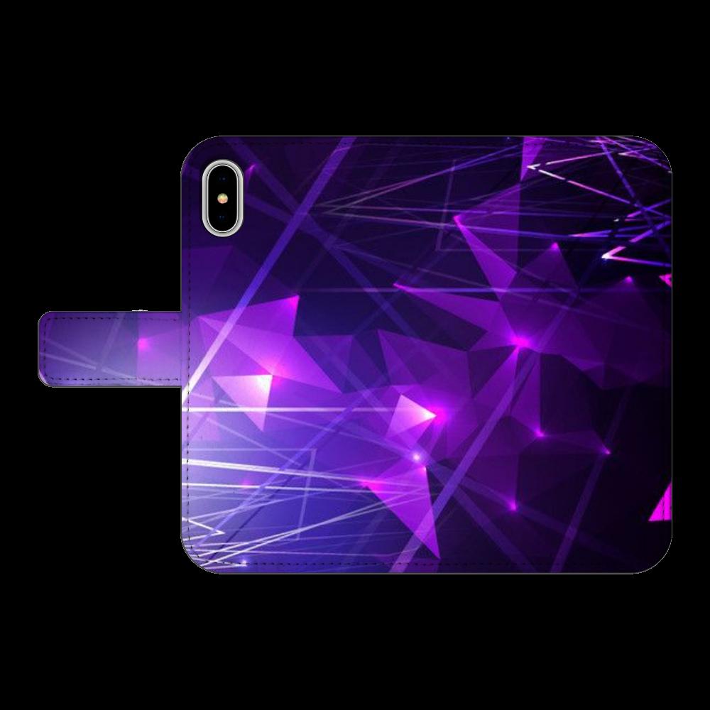 NO.70  iPhoneX/XS 手帳型スマホケース ベルトあり3ポケット iPhoneX/XS