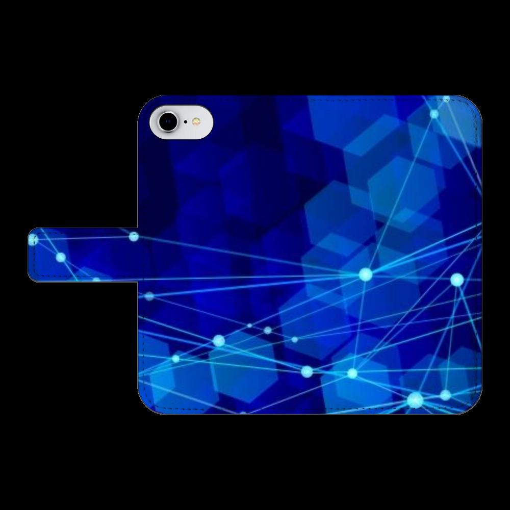 NO.71 iPhone6/6s 手帳型スマホケース ベルトあり3ポケット