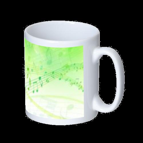 音楽デザイン マグカップ  ホワイト