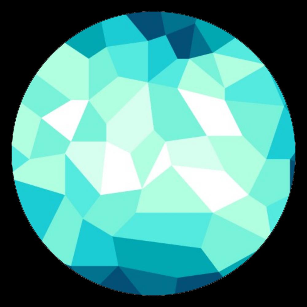 緑ガラスデザイン 白雲石コースター 丸