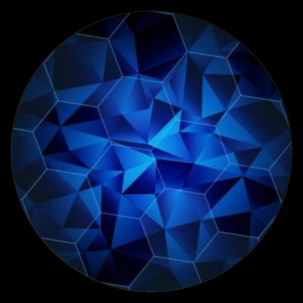 深青デザイン 白雲石コースター 丸