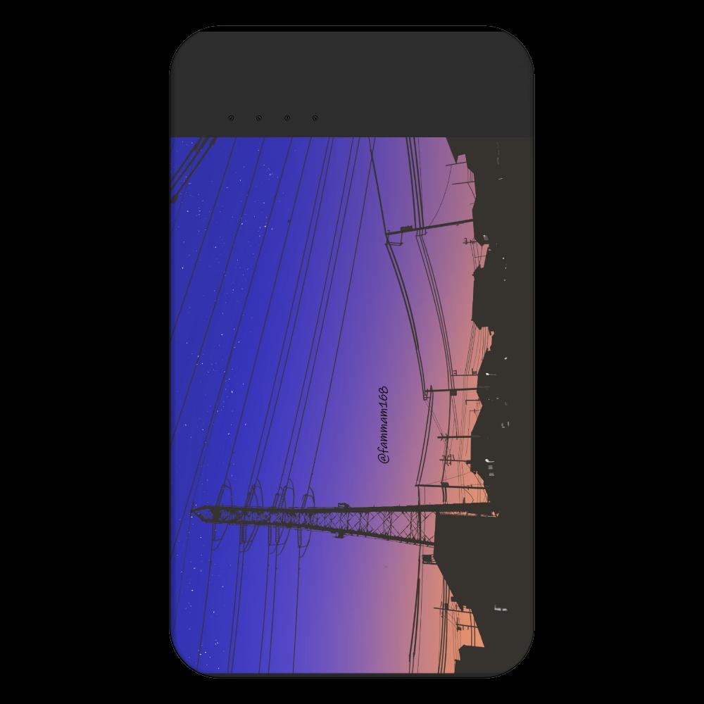 「夕焼け」モバイルバッテリー 残量表示付きモバイルバッテリー(4000mAh)