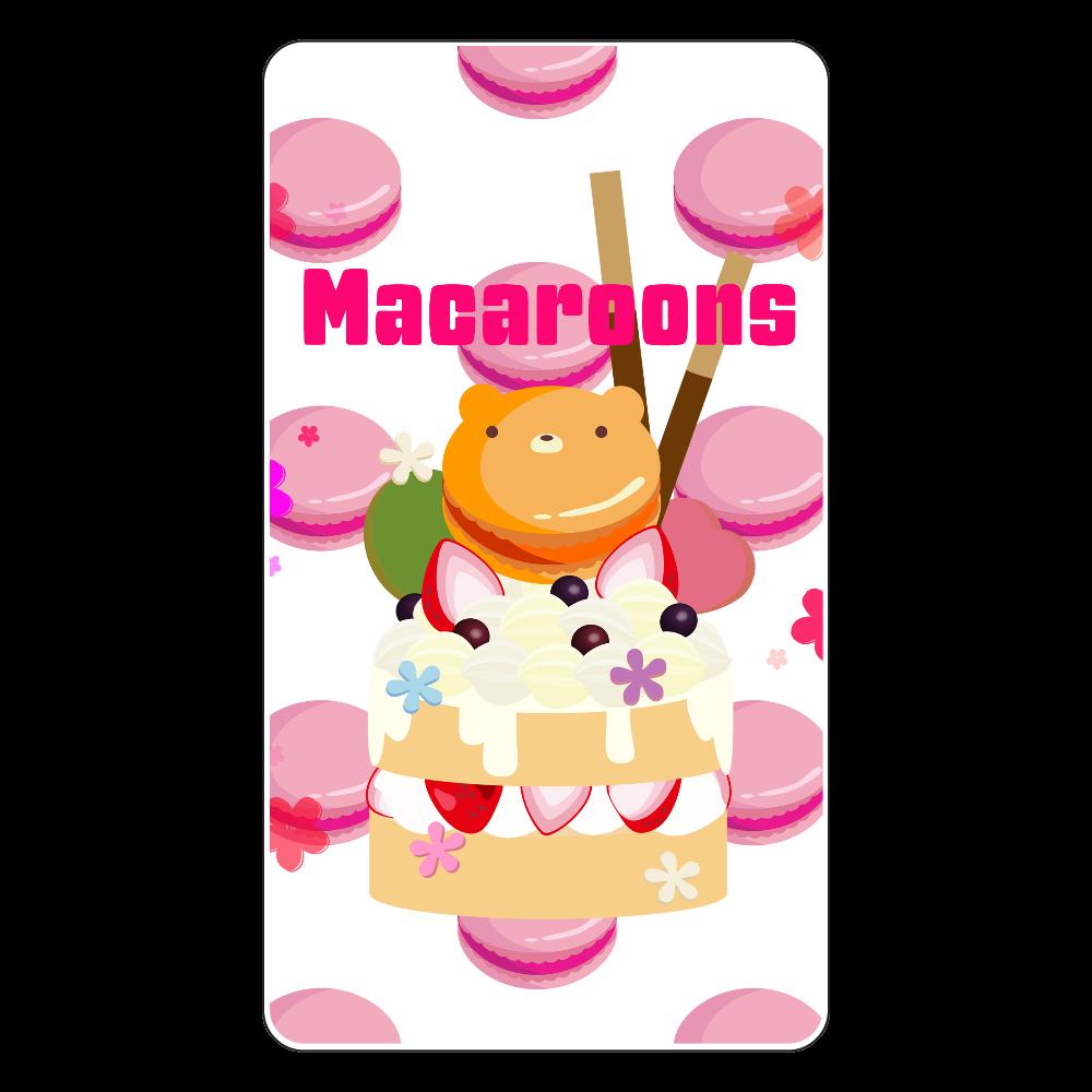 マカロンとクッキー・ポッキーでデコレーションしたイチゴケーキにお花をちりばめてみました ワイヤレス充電器