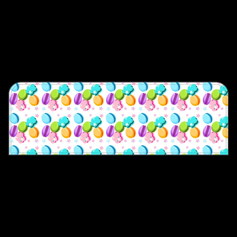 丸・花・ハートの形をしたカラフルなマカロン ペンケース