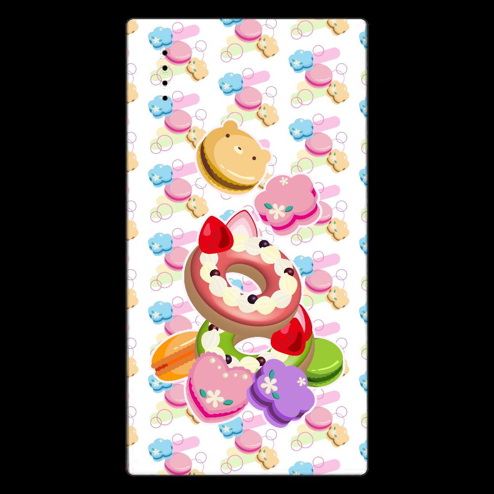 丸・花・ハートの形をしたカラフルなマカロンと2つのデコレーションドーナツ cheero モバイルバッテリー(5000mAh)