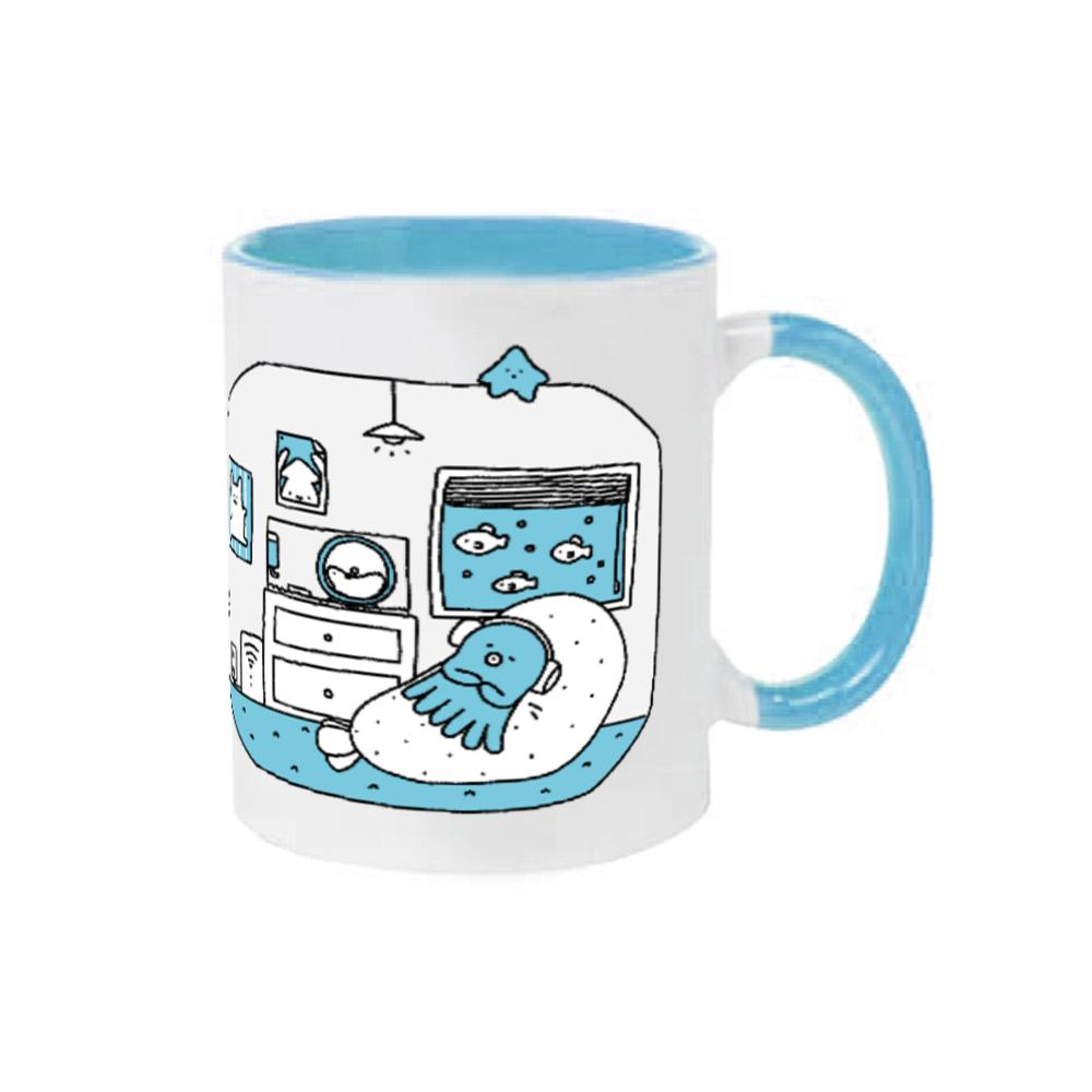 コープタコツボマグカップ(ブルー) 2トーンマグカップ