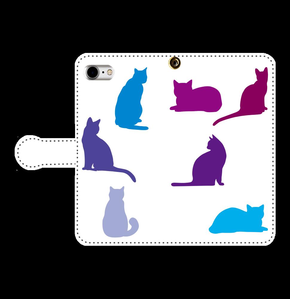猫たちの手帳型ベルト付きiPhone8 手帳型ベルト付きiPhone8