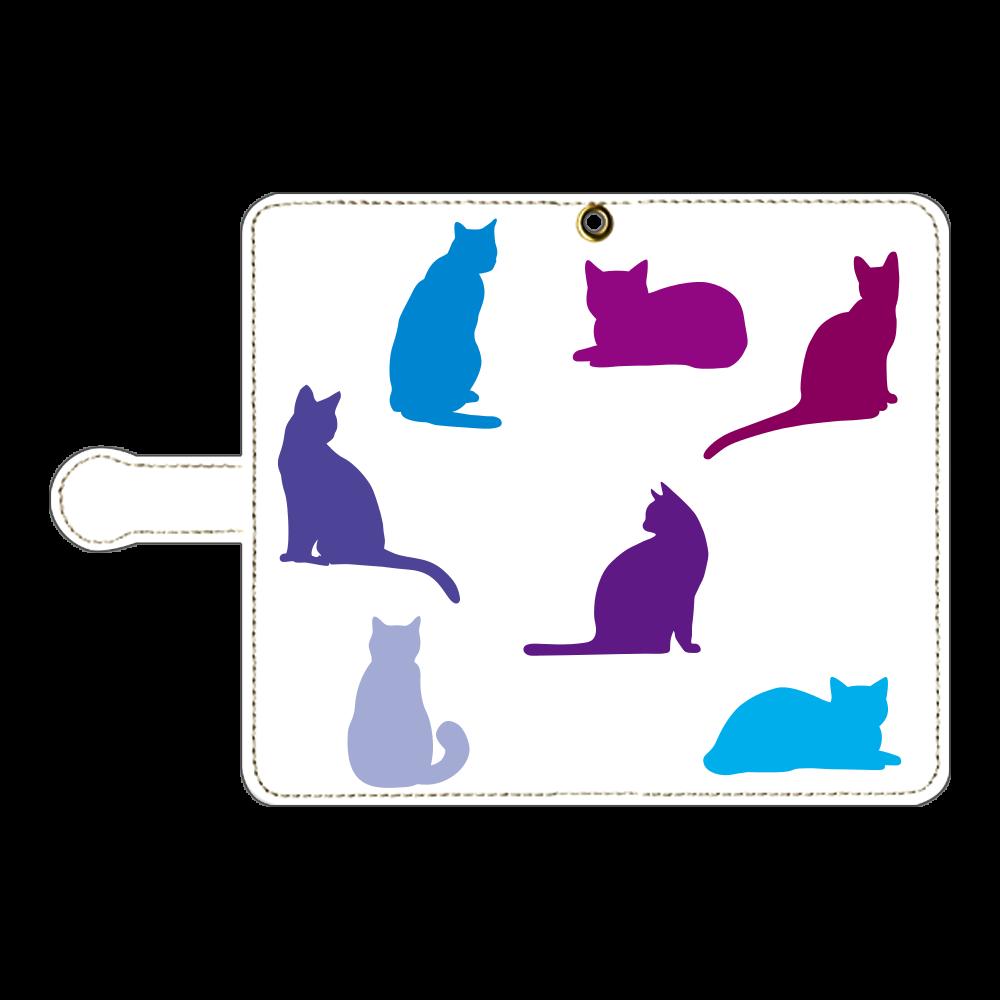 猫たちの手帳型ベルト付きアンドロイドM 手帳型ベルト付きアンドロイドM