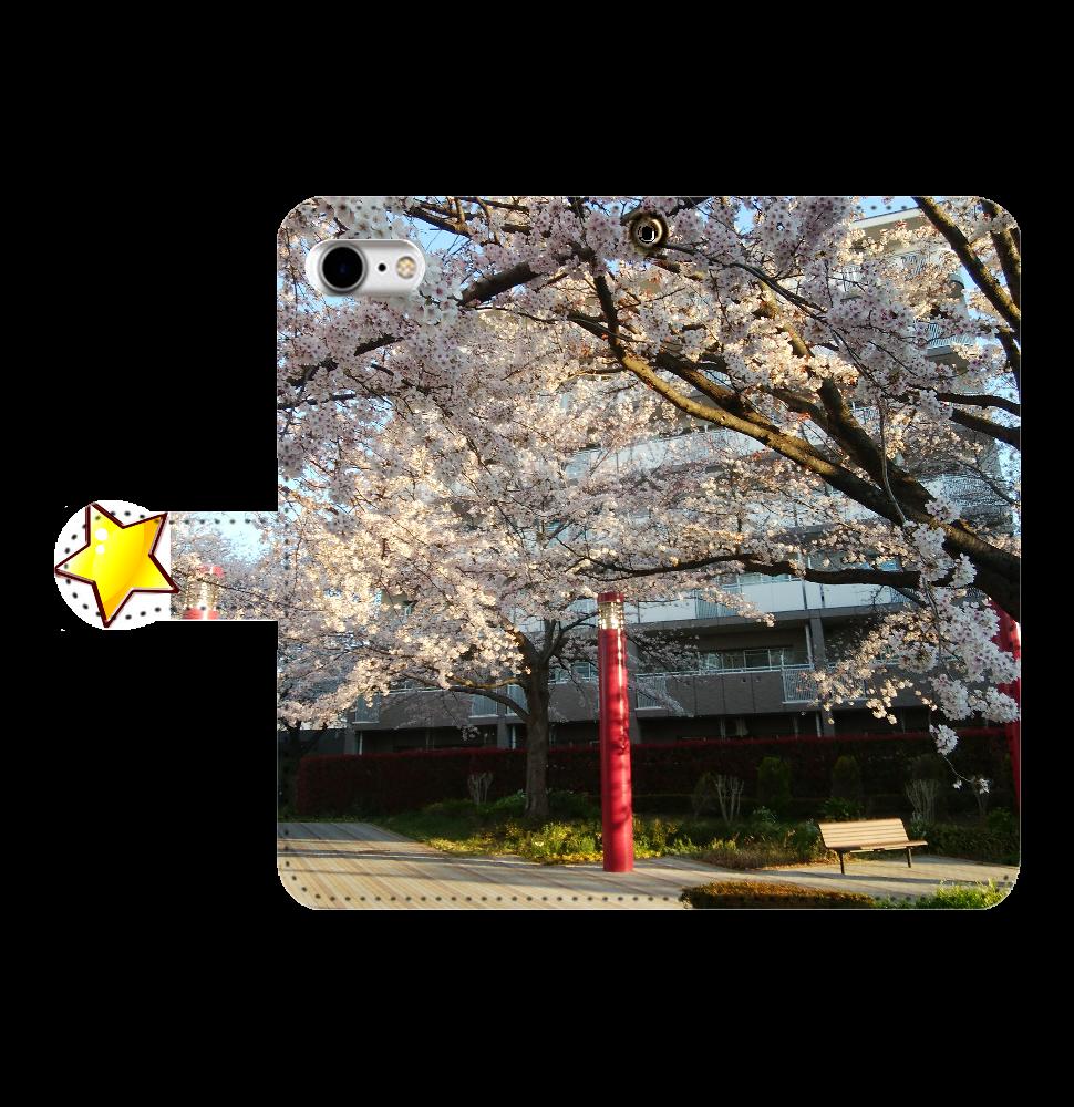 桜2 iPhone8手帳型 手帳型ベルト付きiPhone8