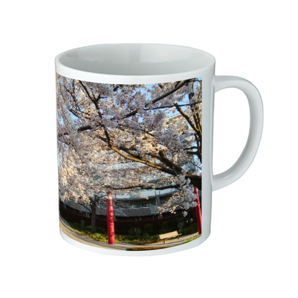 桜2 マグカップ 陶器マグストレート(M)