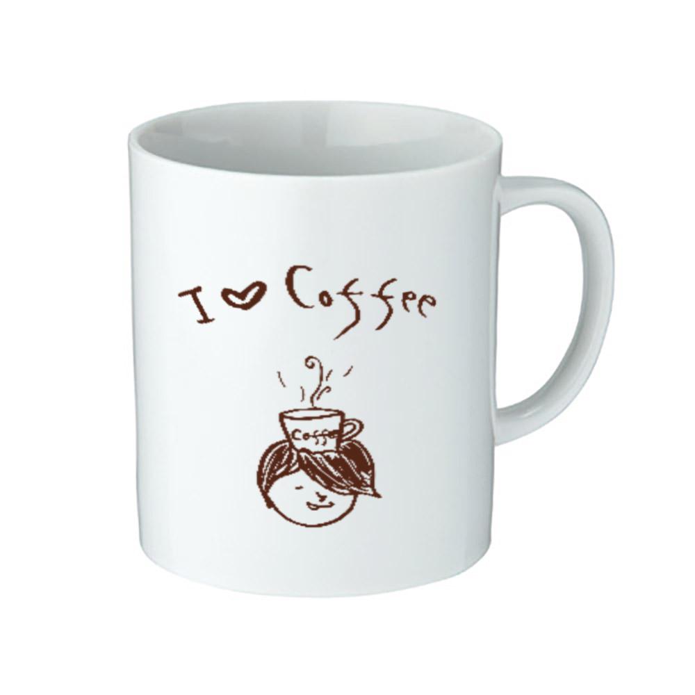コーヒー大好きコヒィくん 陶器マグストレート(M)