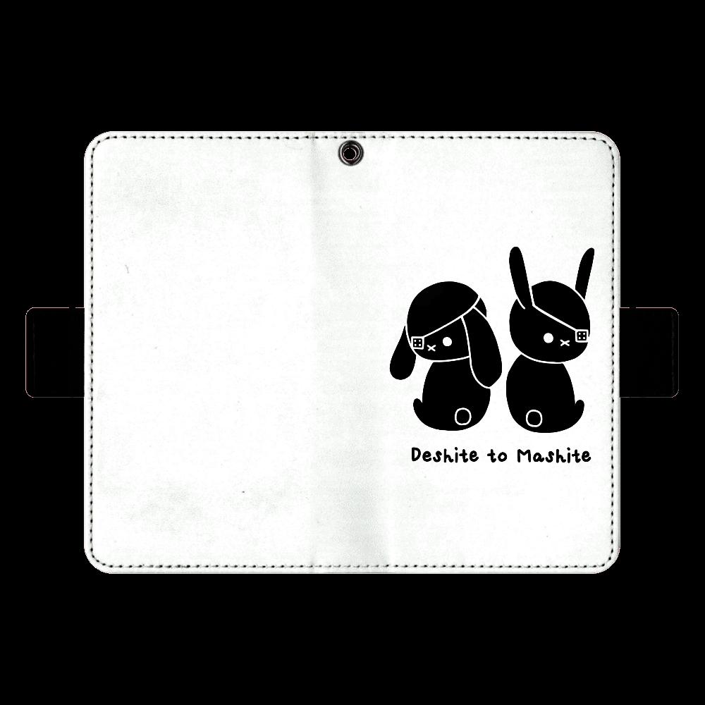 デシテとマシテver.1スマホケースM (シルエット) 手帳ケース(汎用マルチスライド式パーツ)M