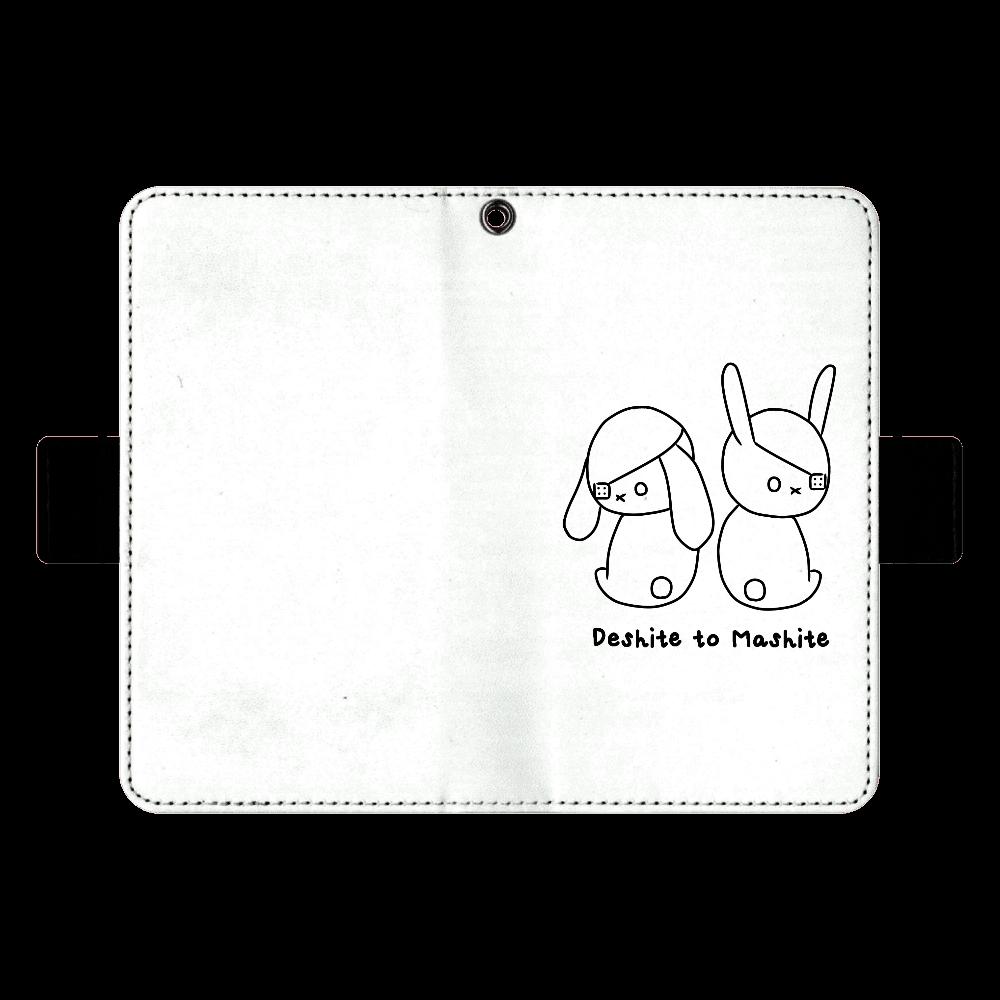 デシテとマシテver.1スマホケースM (ゆる線) 手帳ケース(汎用マルチスライド式パーツ)M