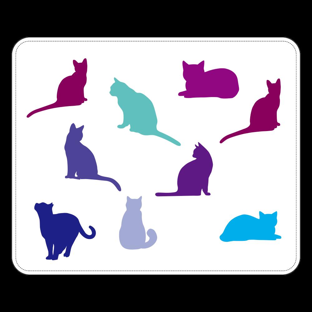 猫たちの高級本革シープスキン帯なし手帳ケース M 高級本革シープスキン帯なし手帳ケース M