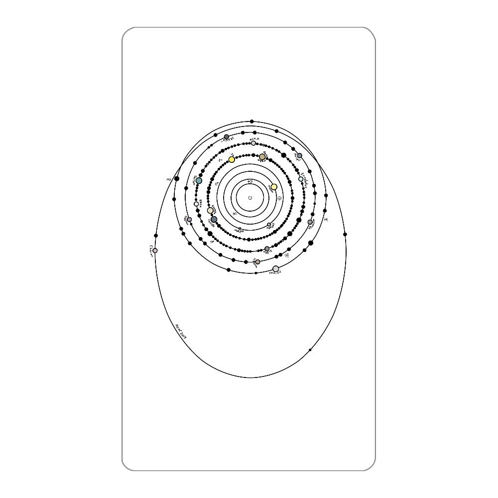 太陽系の衛星  モバイルバッテリー インジケータ無バッテリー4000mAh