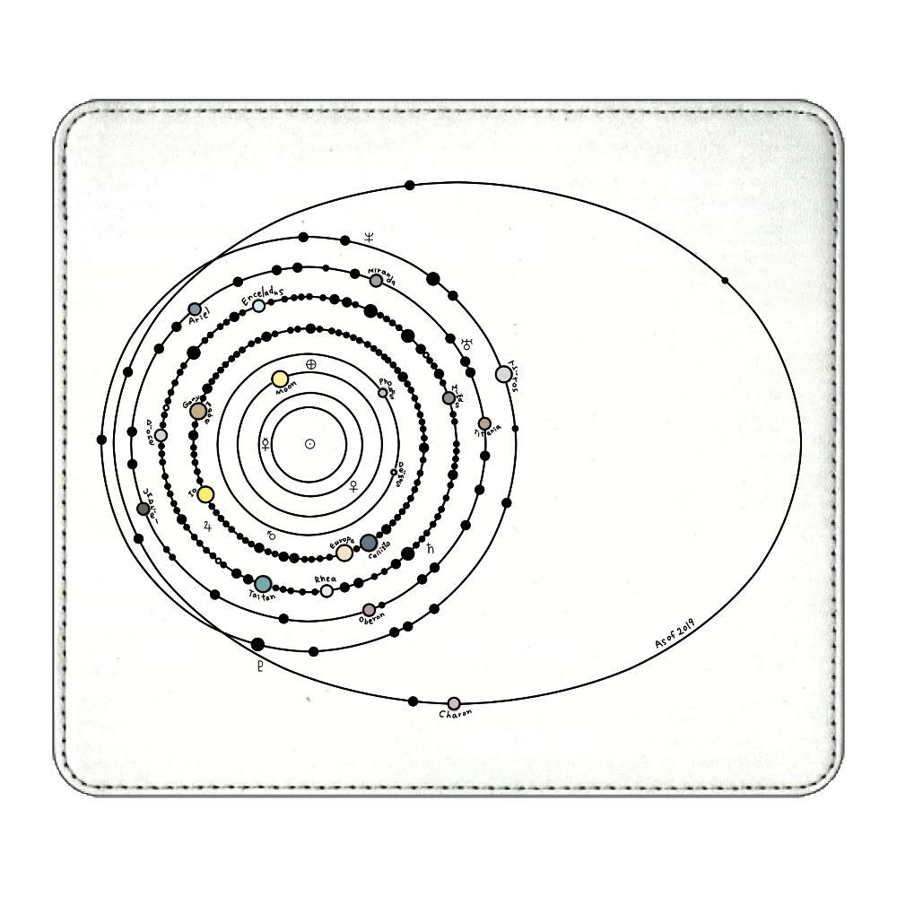 太陽系の衛星  マウスパッド マウスパッド