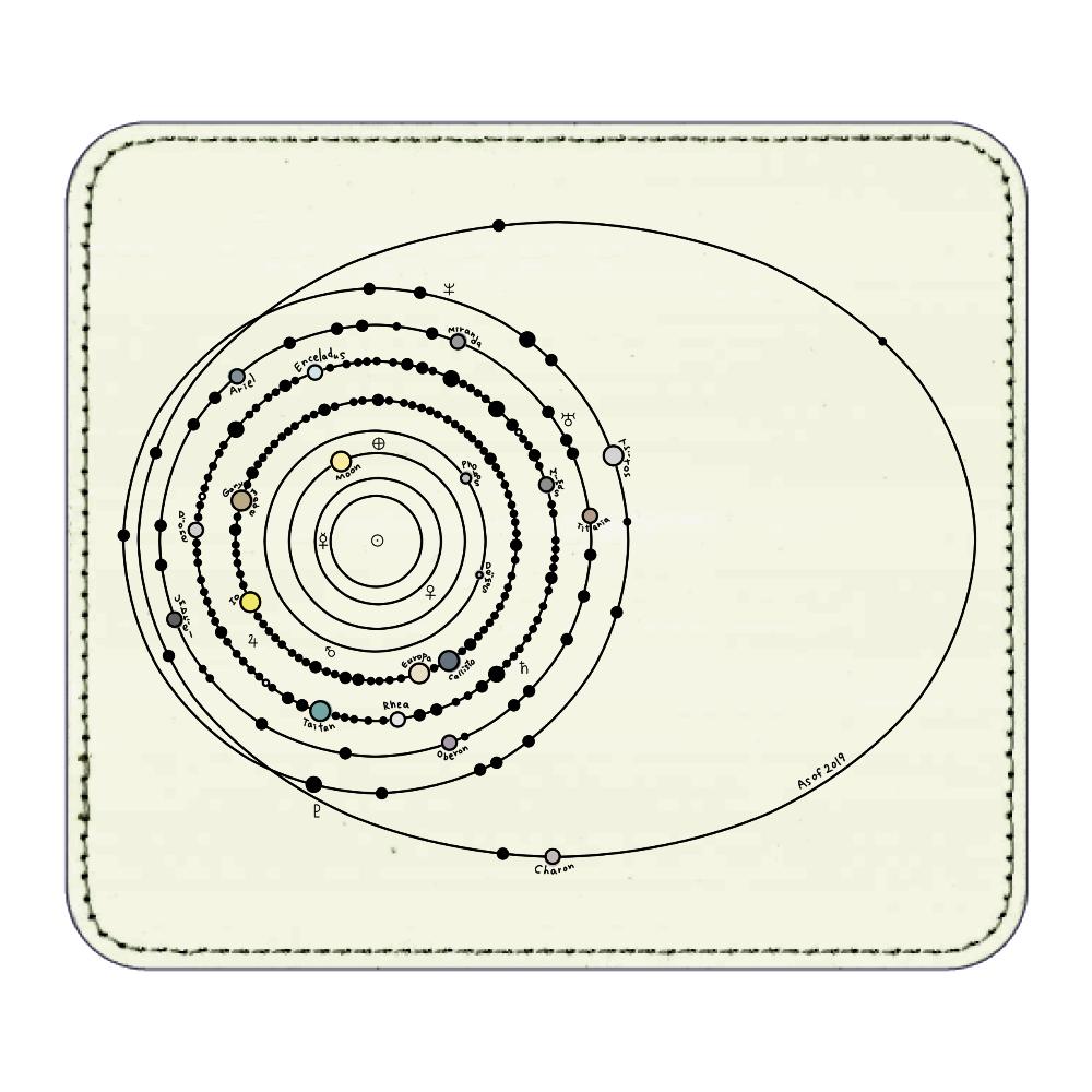 太陽系の衛星  マウスパッド レザーマウスパッド(スクエア)