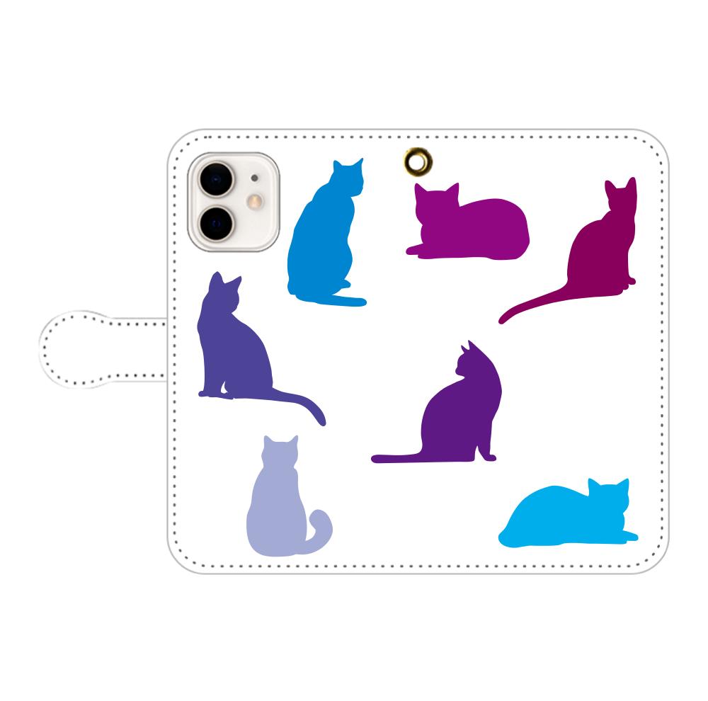 猫たちのiPhone12/12pro 手帳型スマホケース iPhone12/12pro 手帳型スマホケース