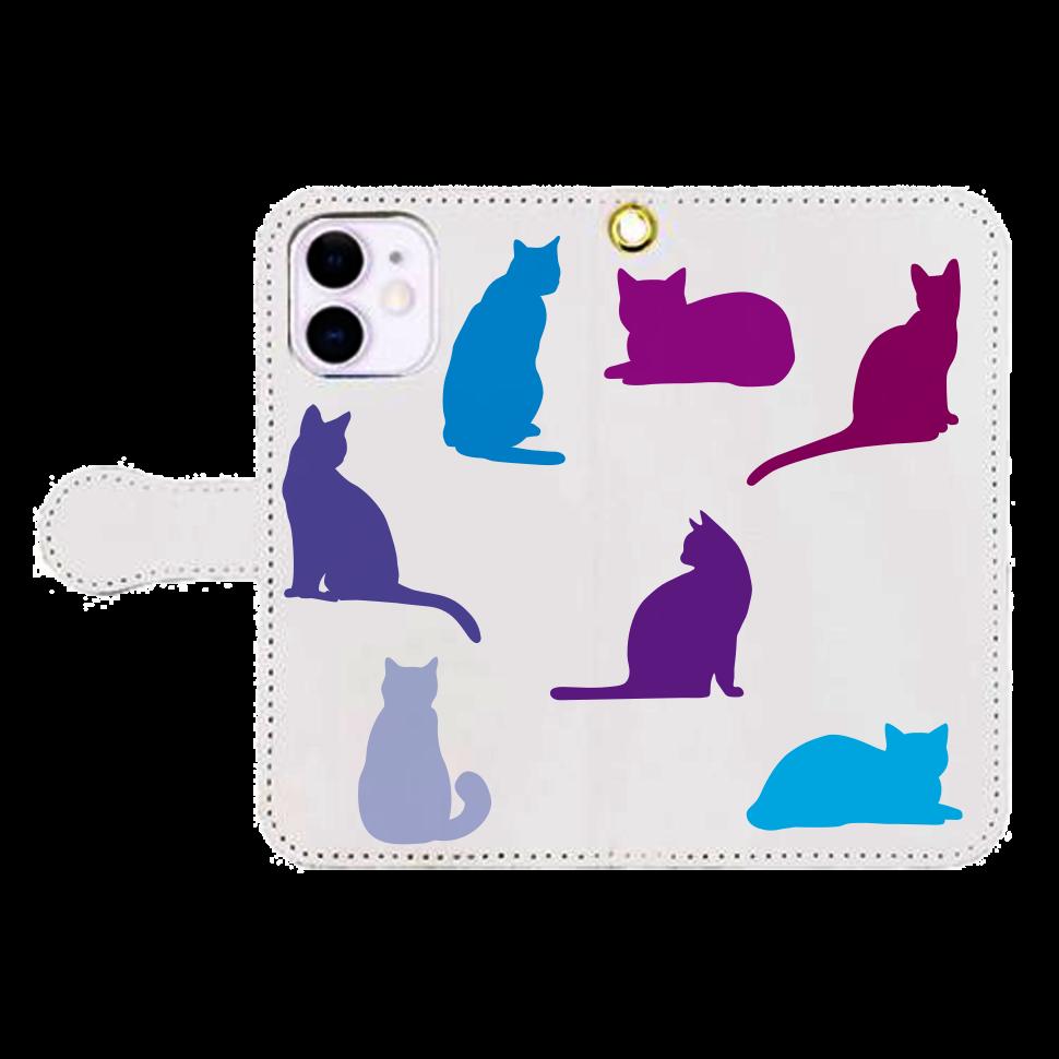 猫たちのiPhone12mini 手帳型スマホケース iPhone12mini 手帳型スマホケース