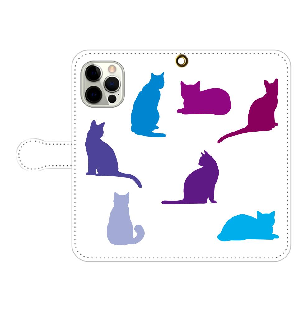 猫たちのiPhone12pro max 手帳型スマホケース iPhone12pro max 手帳型スマホケース