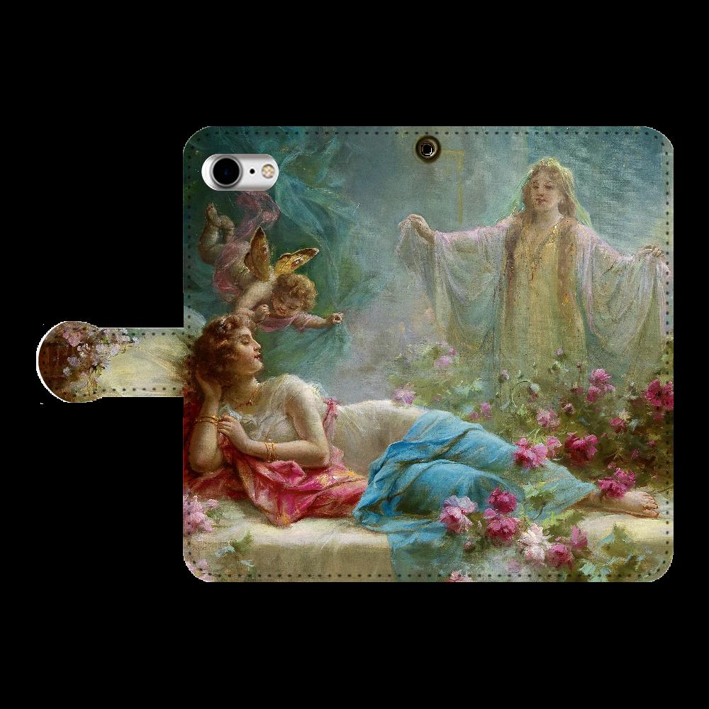 ハンス・ザッカ《夢》 手帳型ベルト付きiPhone8
