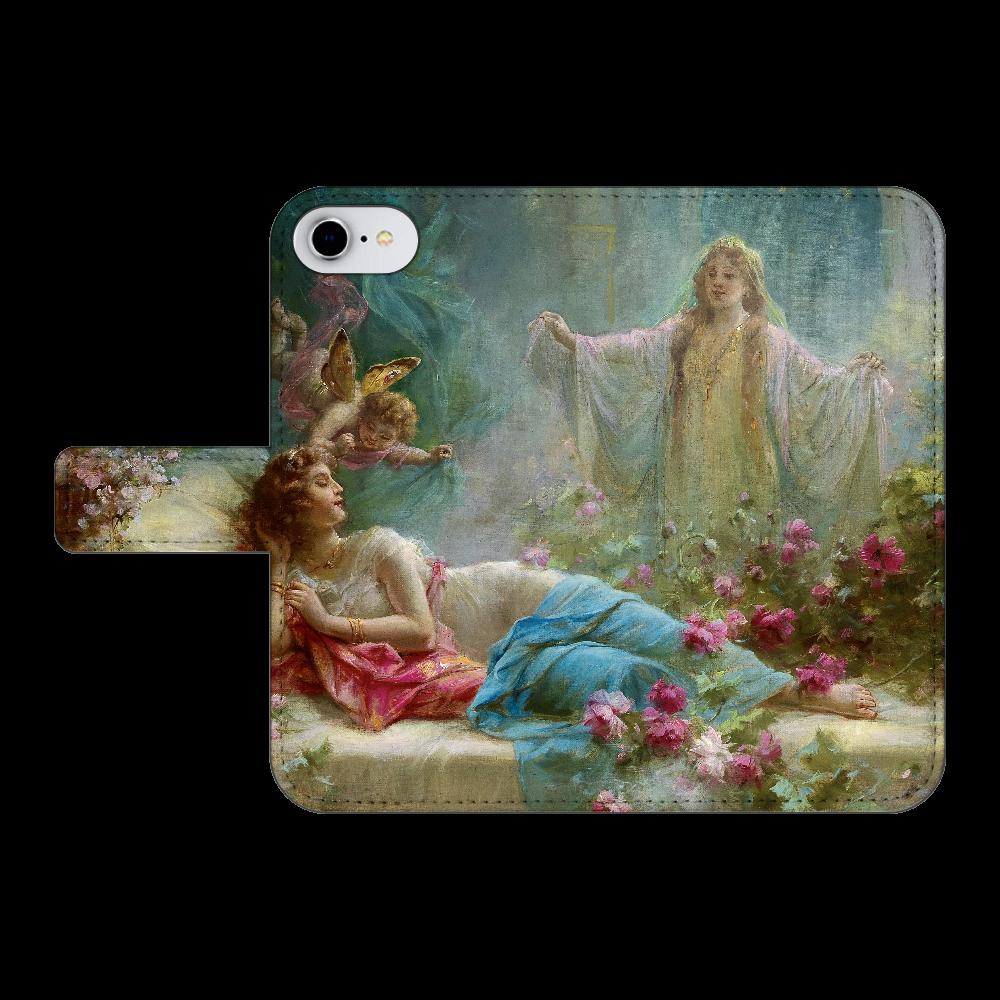 ハンス・ザッカ《夢》 iPhone6/6s 手帳型スマホケース ベルトあり3ポケット