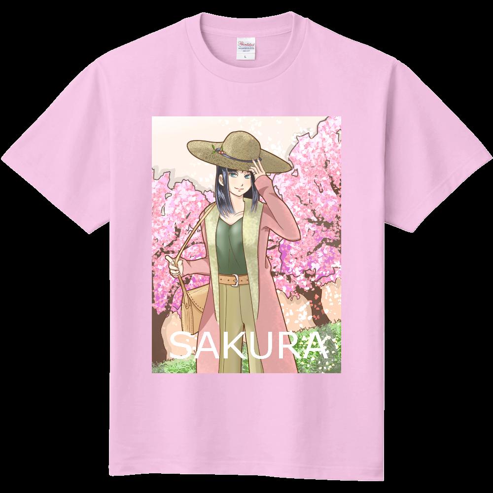 イラスト桜吹雪オリジナルtシャツを簡単自作無料販売upt最安値
