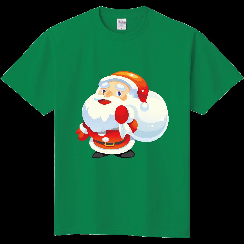 サンタイラストtシャツ緑オリジナルtシャツを簡単自作無料販売up