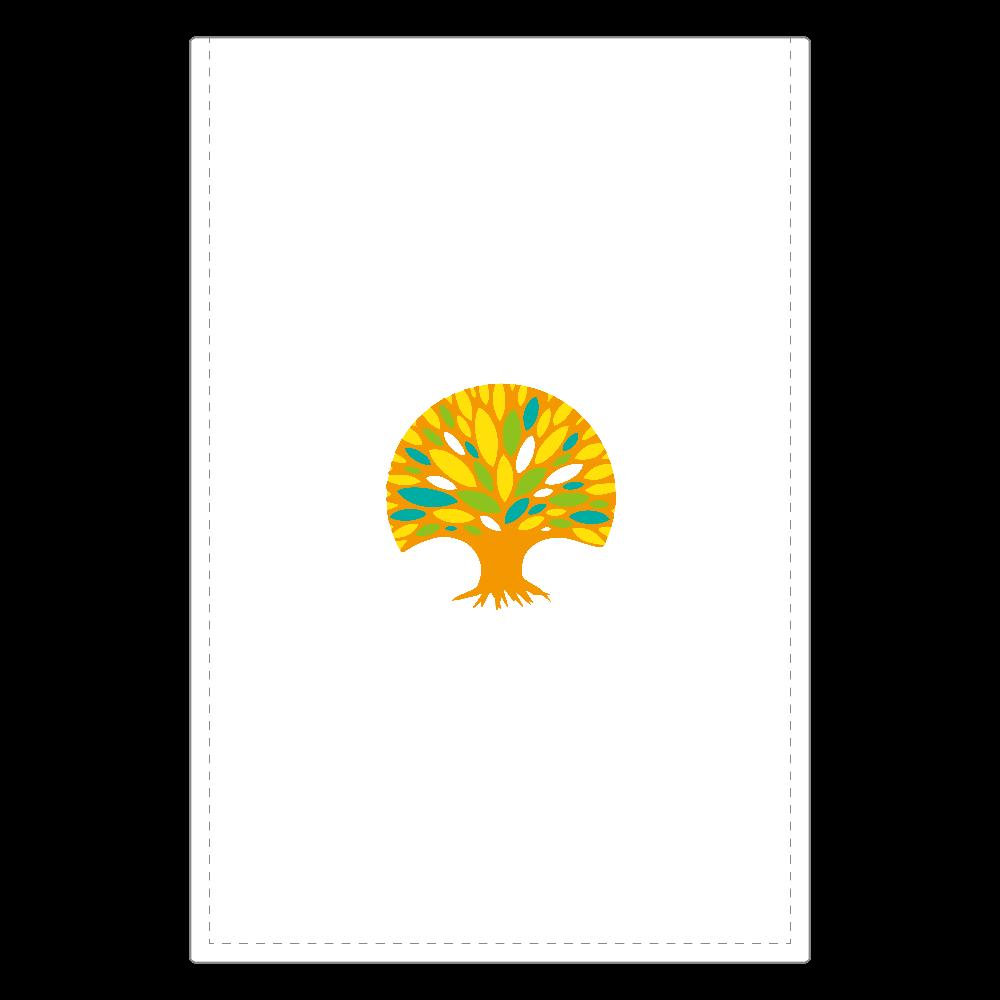陽だまりの杜 レザーミラー(ロゴ) ソフトレザーミラー