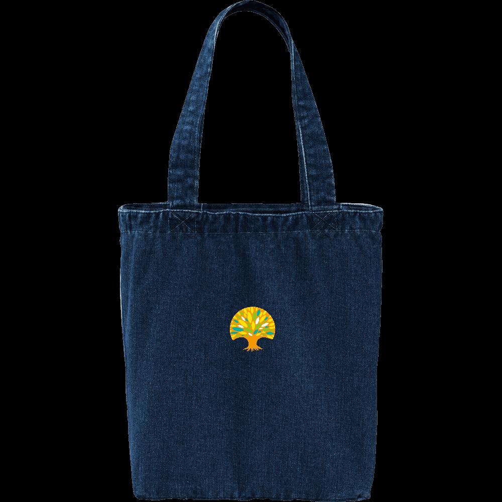 陽だまりの杜 デニムトートバッグ( ロゴマーク) デニム トートバッグ