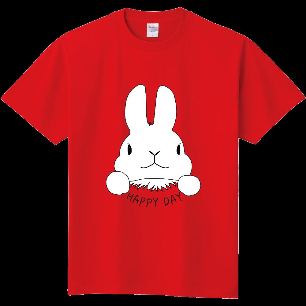 うさぎ HAPPY DAY 定番Tシャツ