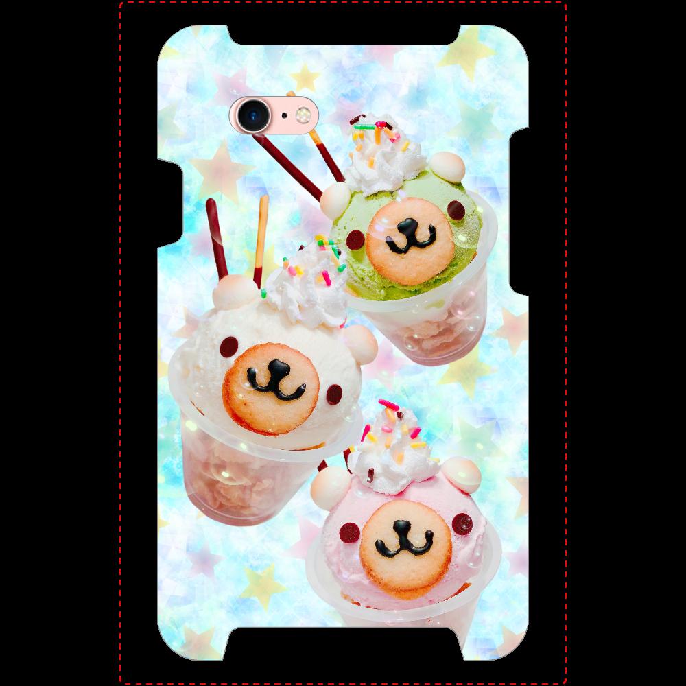 ミラーとカード収納付き!/☆iPhone8/くまさんカップアイス iPhone8_ミラーケース