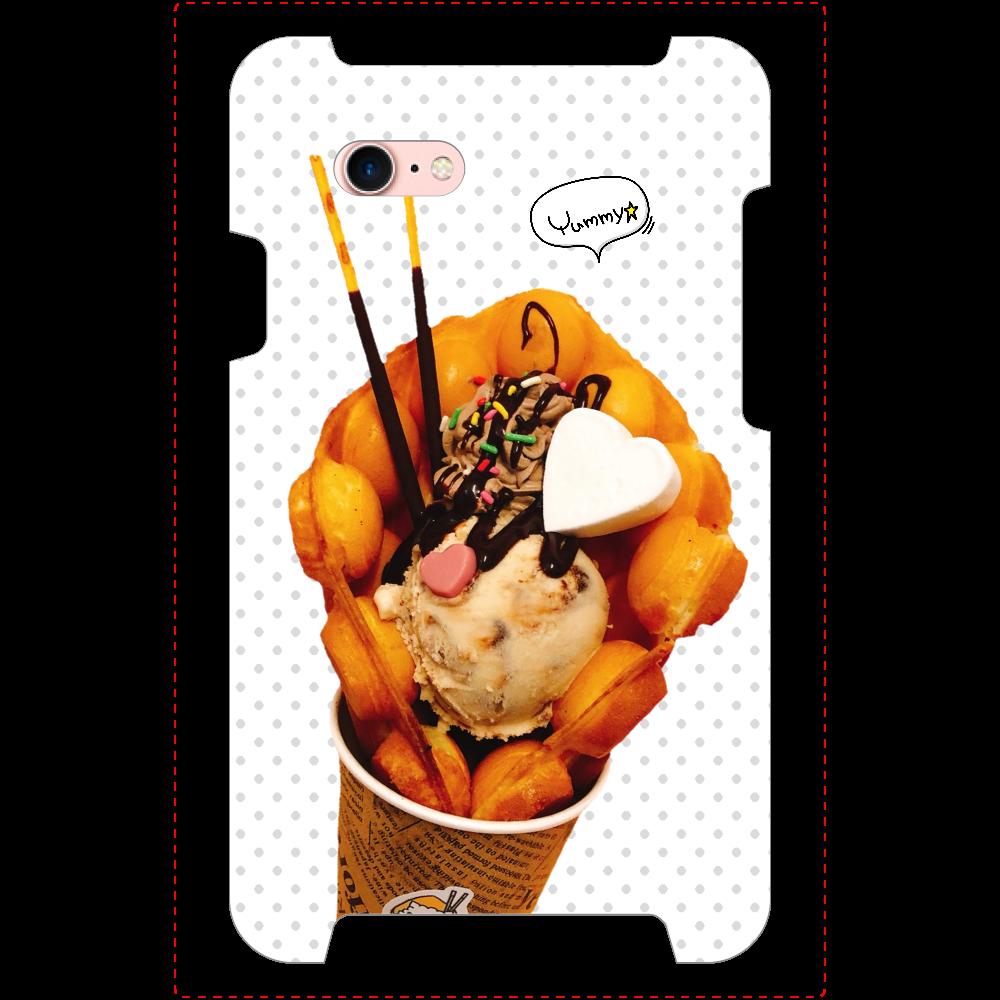 ミラーとカード収納付き!/☆iPhone8/パッフル/ティラミスショコラ iPhone8_ミラーケース
