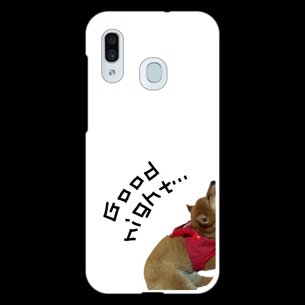 Good night Galaxy A30 (SCV43) ハードケース