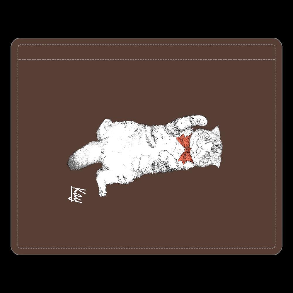 スコティッシュ猫のカイ君 レザーIDカードホルダー(ネックストラップ付) レザーIDカードホルダー(ネックストラップ付)
