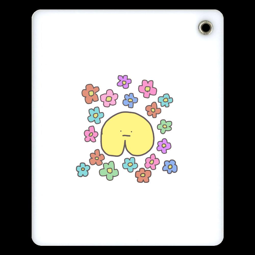 『ぼくじり』ミラー 花柄 スライドアクリルミラー スクエア