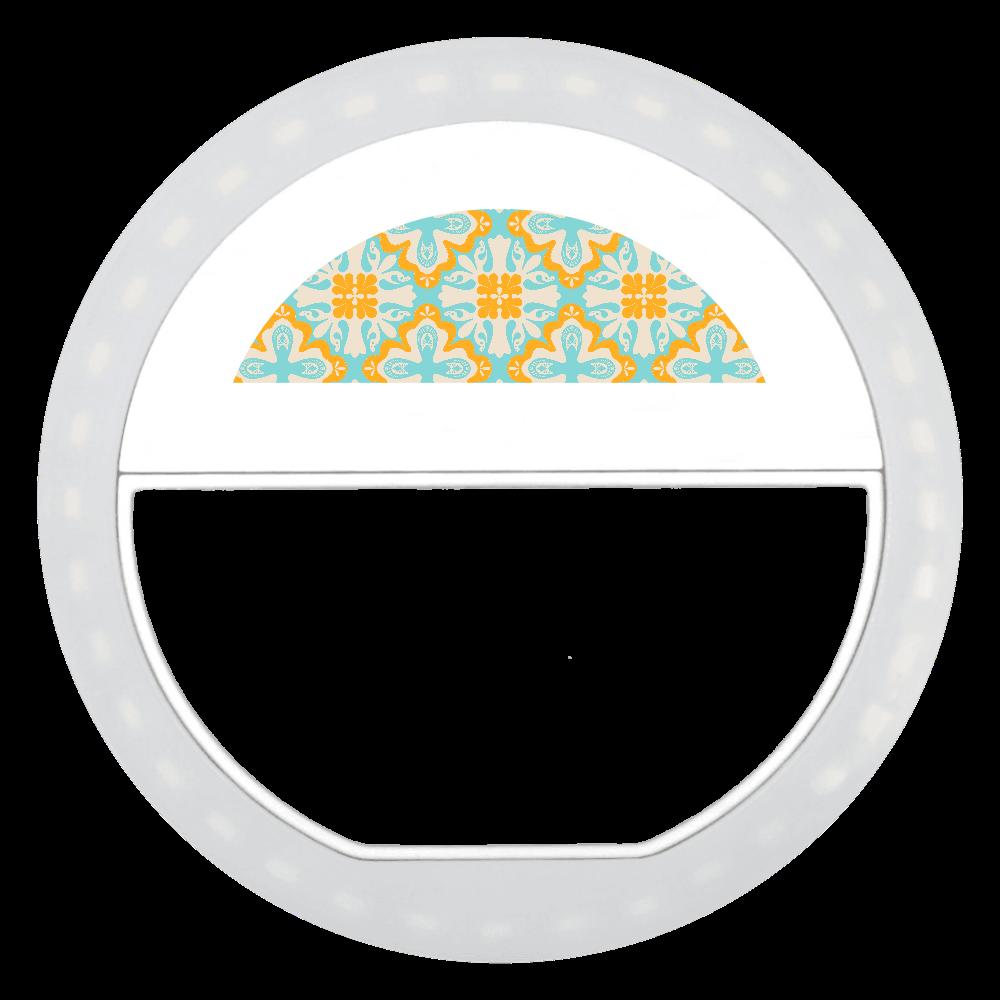 レトロな柄の自撮りライト ビッグクリップセルフィーフラッシュライト
