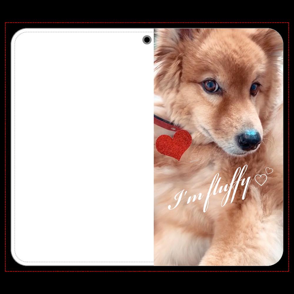 Fluffy dog♡ 帯なし手帳ケース(汎用マルチスライド式パーツ)LLslim