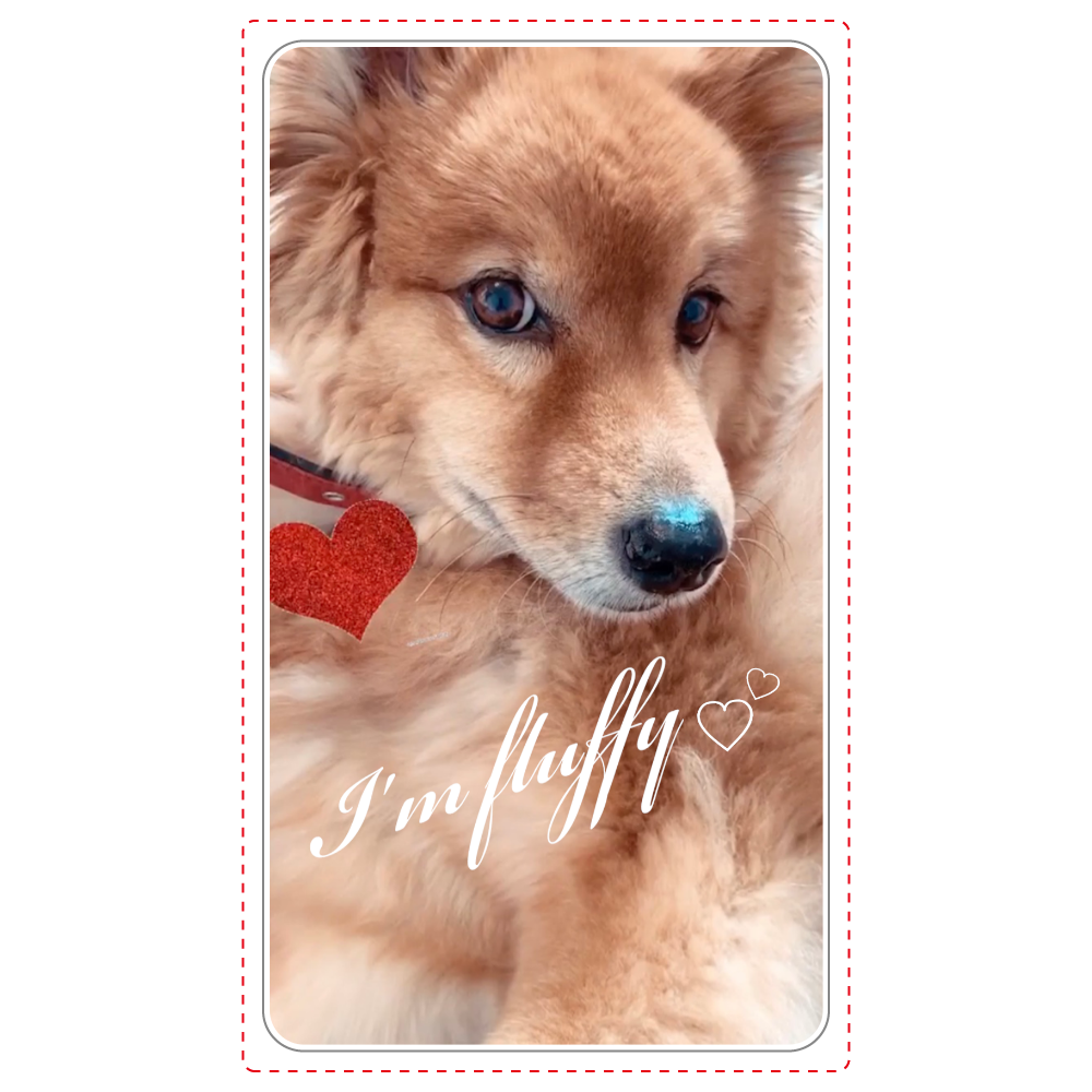 Fluffy dog♡ ワイヤレス充電器