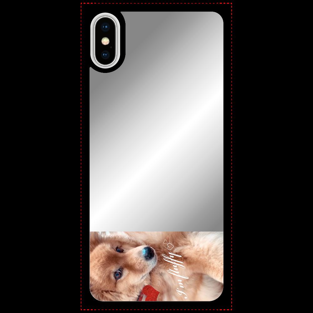 Fluffy dog♡ iPhoneX/Xsミラーパネルケース