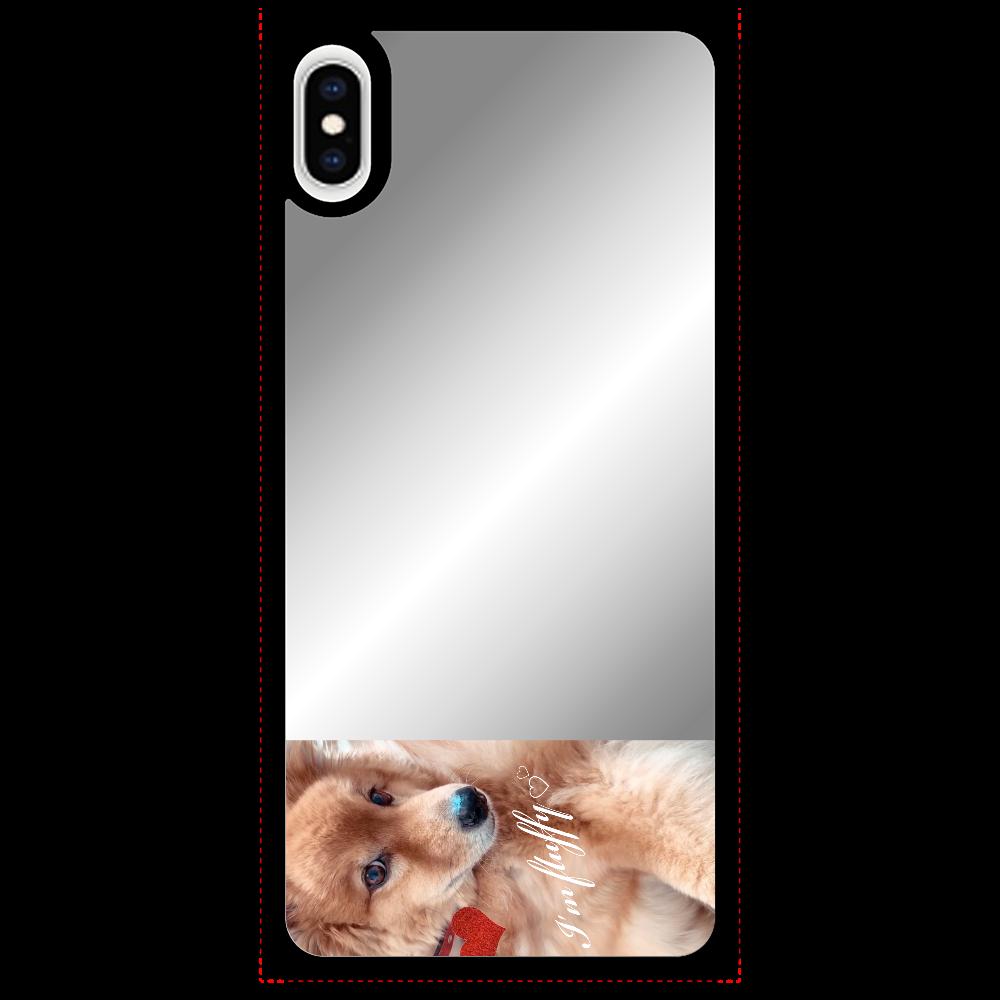 Fluffy dog♡ iPhoneXS Maxミラーパネルケース