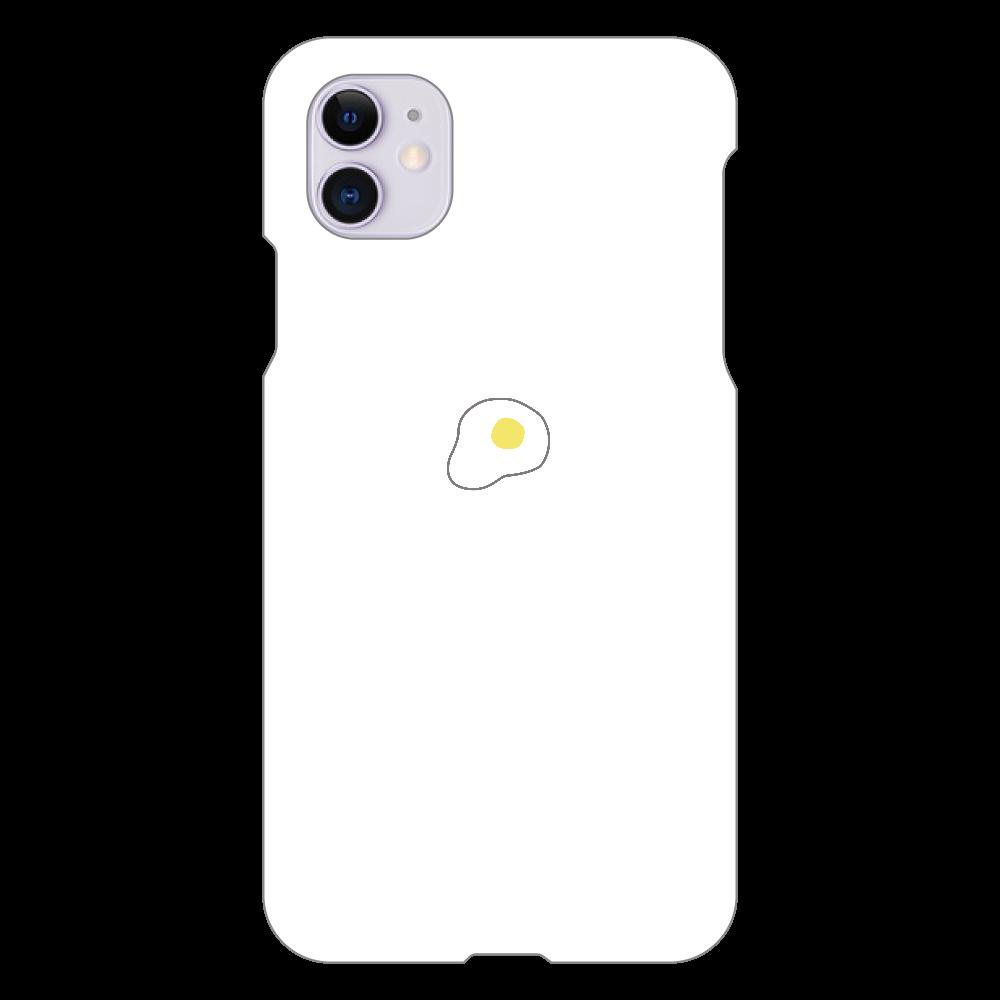 めだまやき スマホケース iPhone 11(白)