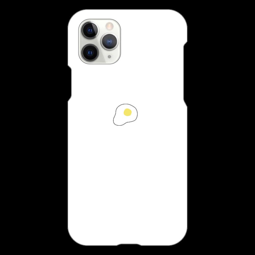 めだまやき スマホケース iPhone11 Pro(白)