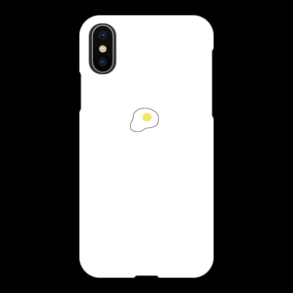 めだまやき スマホケース iPhoneX/Xs(白)