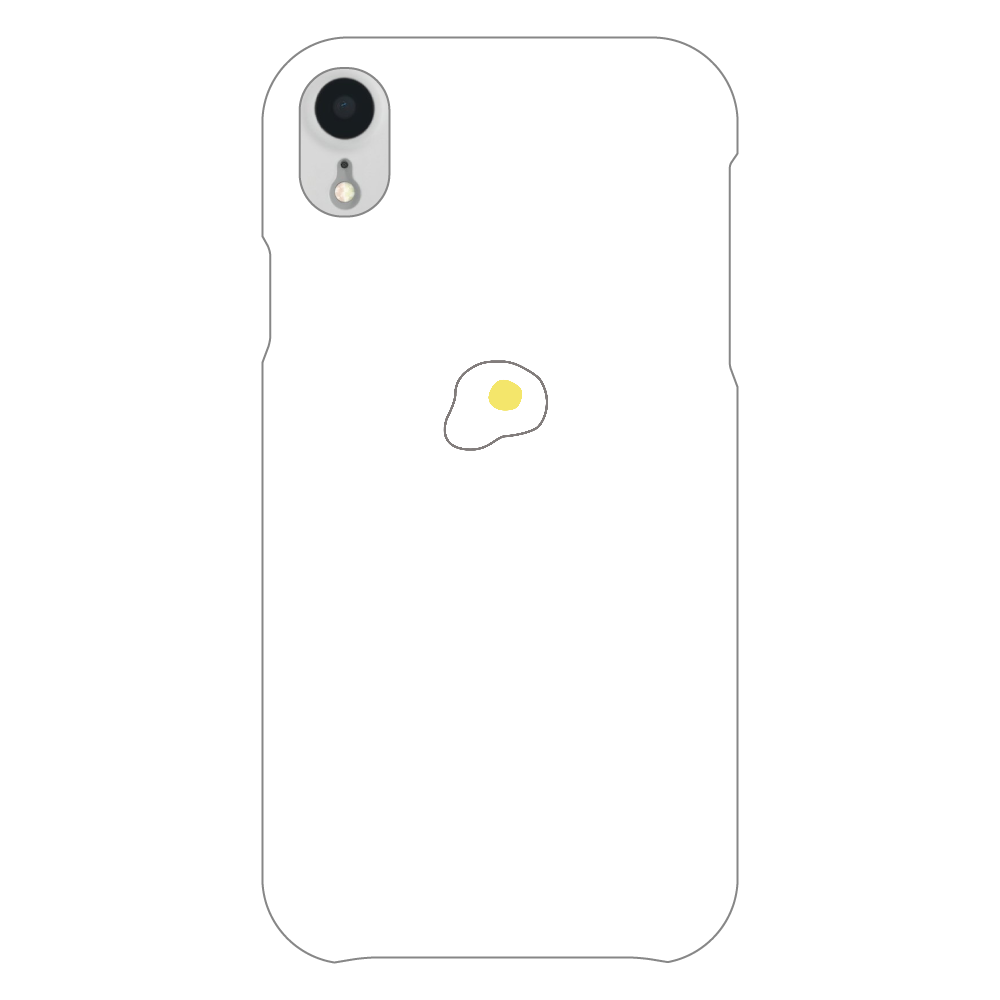 めだまやき スマホケース iPhoneXR(白)