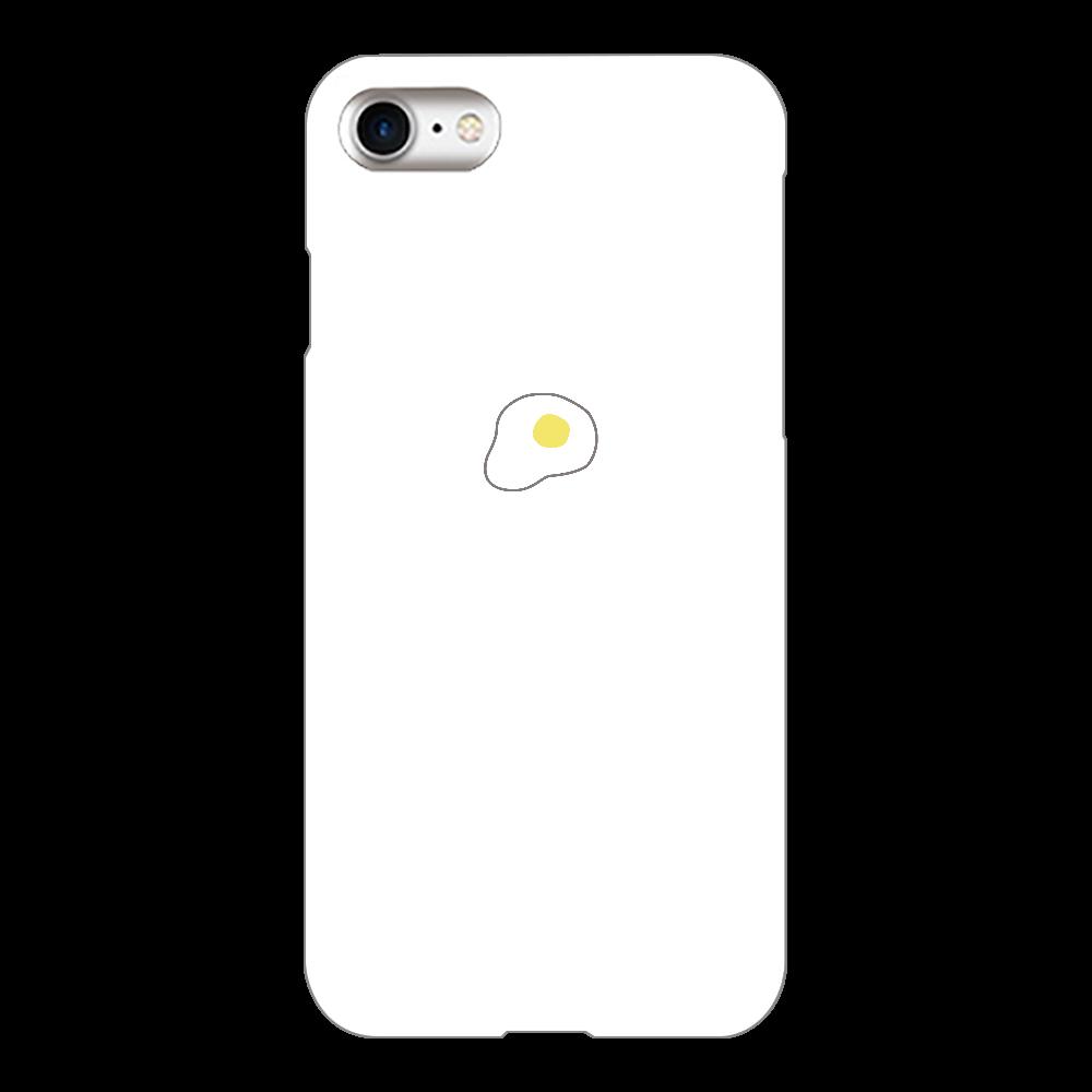 めだまやき スマホケース iPhone8(白)